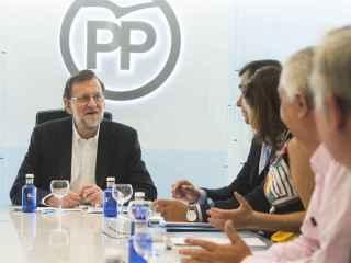 Rajoy, en el Comité de Dirección del PP celebrado tras la reunión con Rivera.