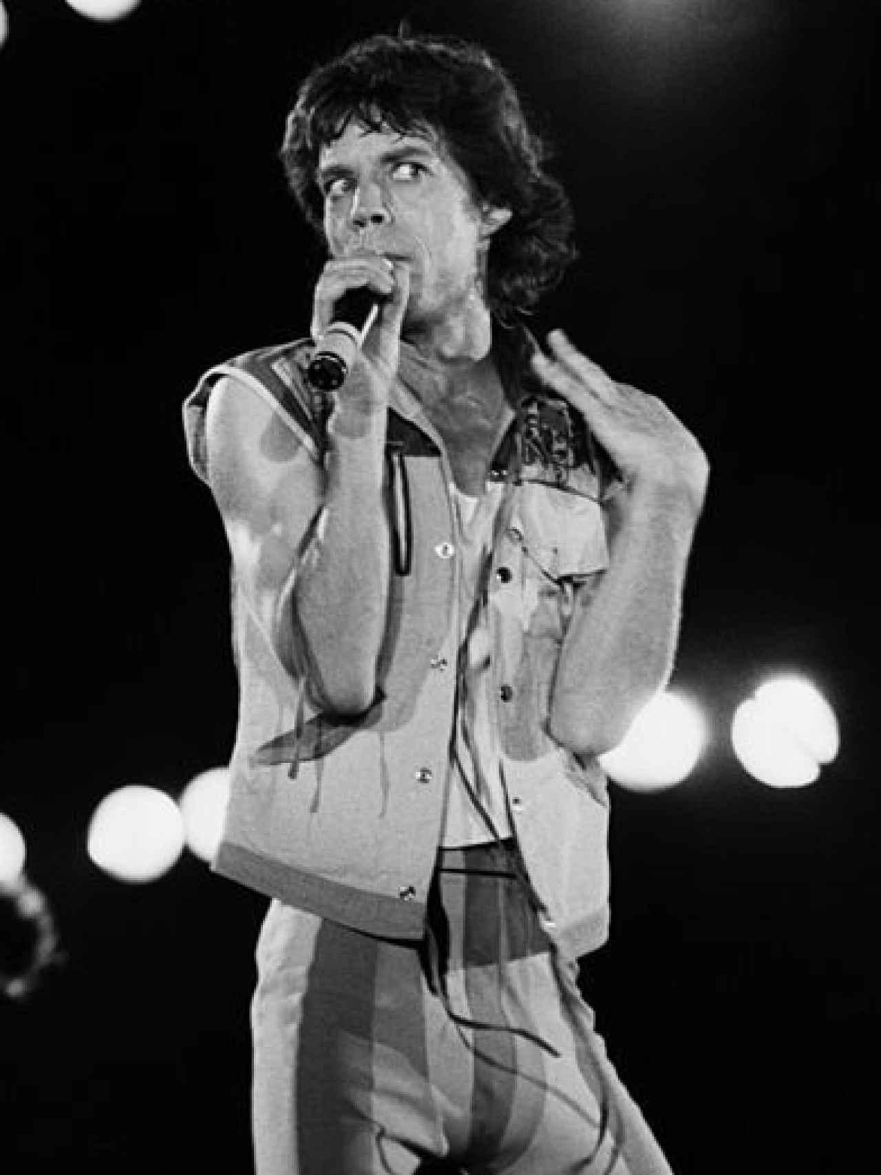Concierto  de los  Rolling Stones en Torino (Italia) en  1982.