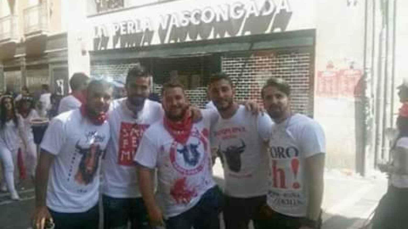 Los cinco detenidos por violación en las pasadas fiestas de San Fermín.