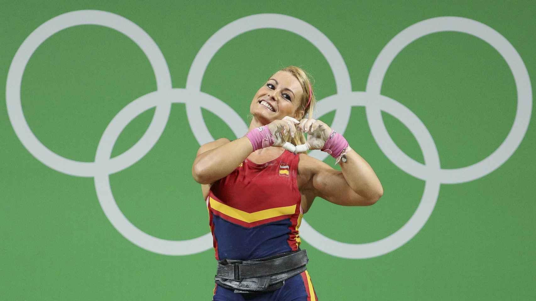 Lidia Valentín durante la competición en Río.