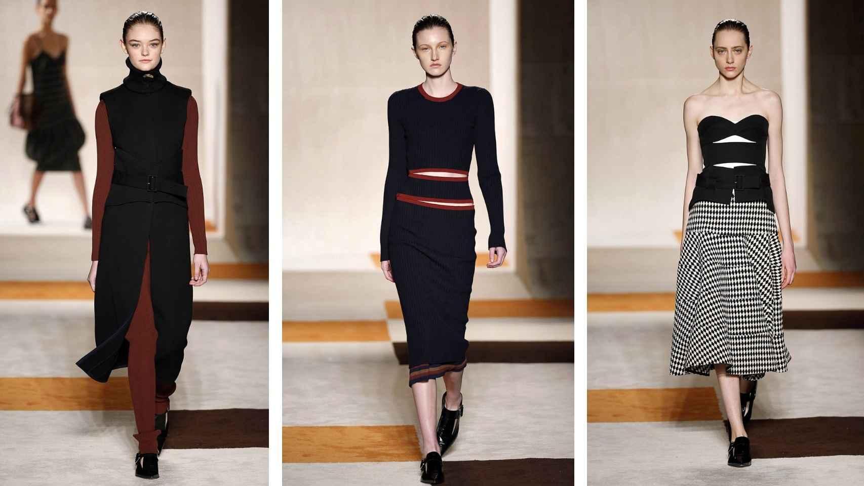 Modelos de Victoria Beckham para la Colección Otoño-Invierno 2016/2017.