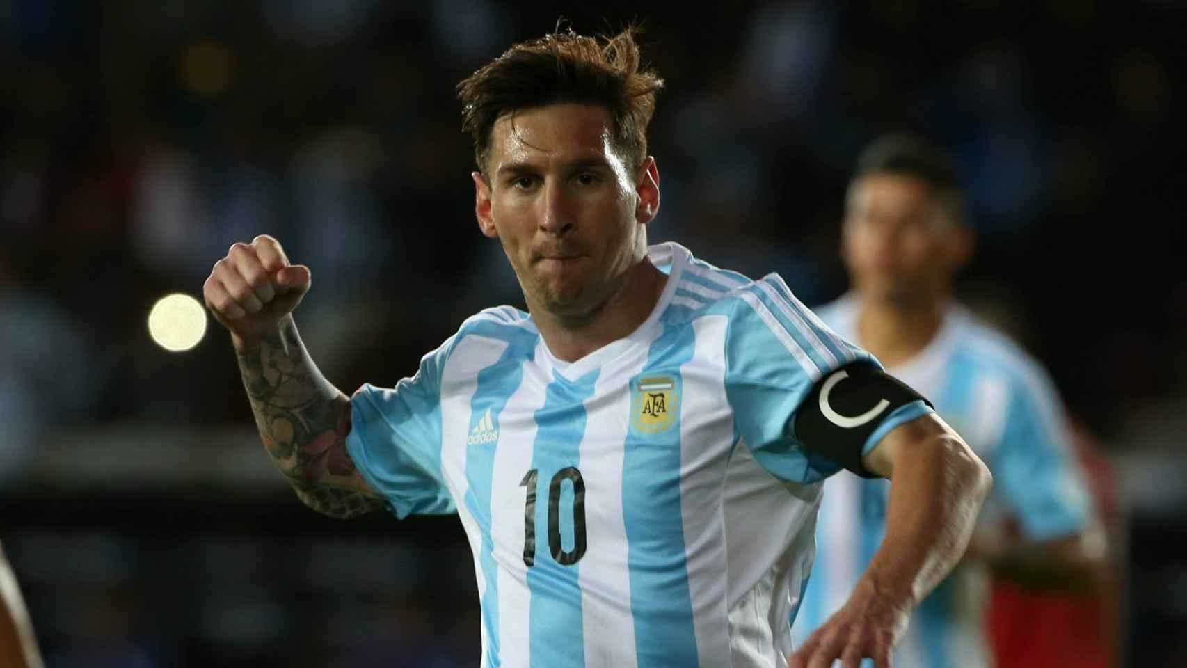 Messi, con la selección argentina.