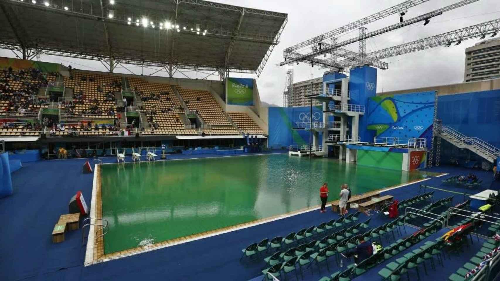 La piscina de saltos de Río 2016.