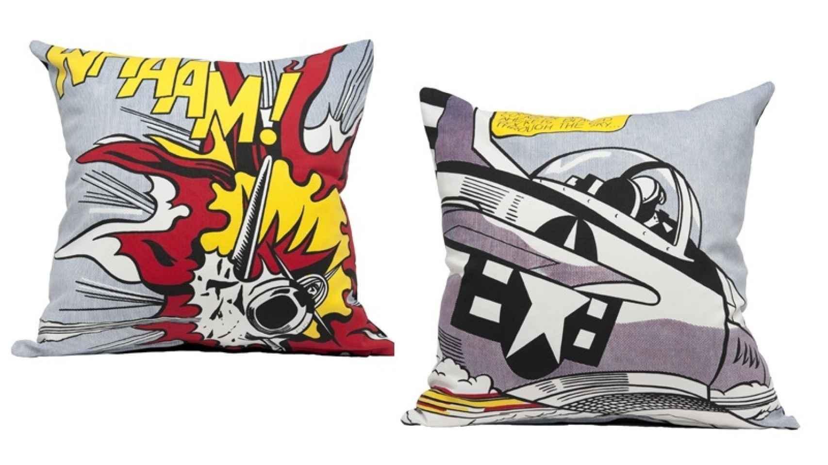 Fundas de cojín Lichtenstein, en TATE, por 20 libras.