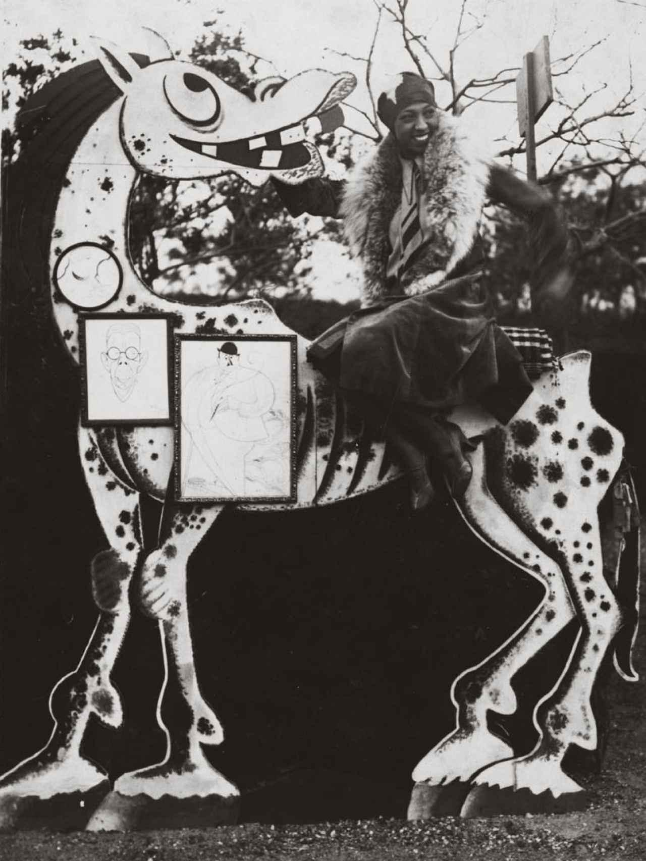 Josephine Baker de visita en Barcelona, 1930. De Casas, Incluida en la muestra del MNAC.