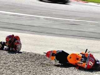 La caída de Marc Márquez en el Red Bull Ring.