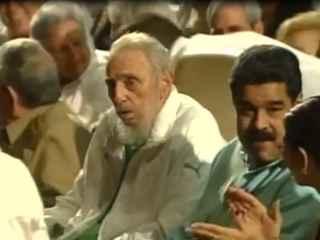 Fidel Castro, junto a Maduro y su hermano Raúl.