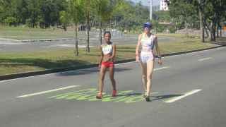 Arias y Jevtic, perdidas en la maratón de Río de Janeiro.