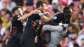 El Liverpool celebra uno de los goles.