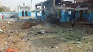 Una de las víctimas del bombardeo.