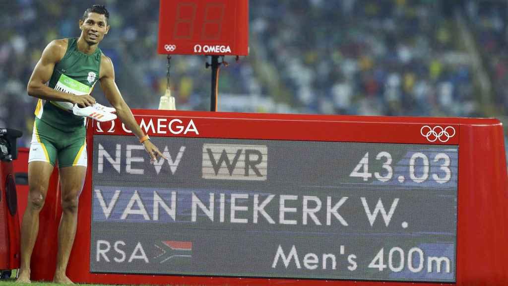 Van Niekerk inmortaliza su impresionante marca.