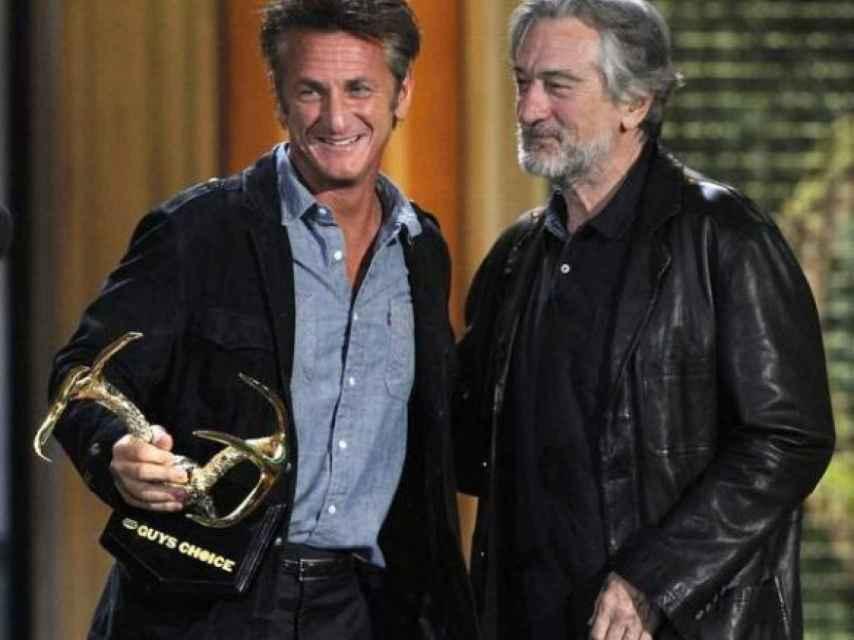 De Niro y Penn muy sonrientes.
