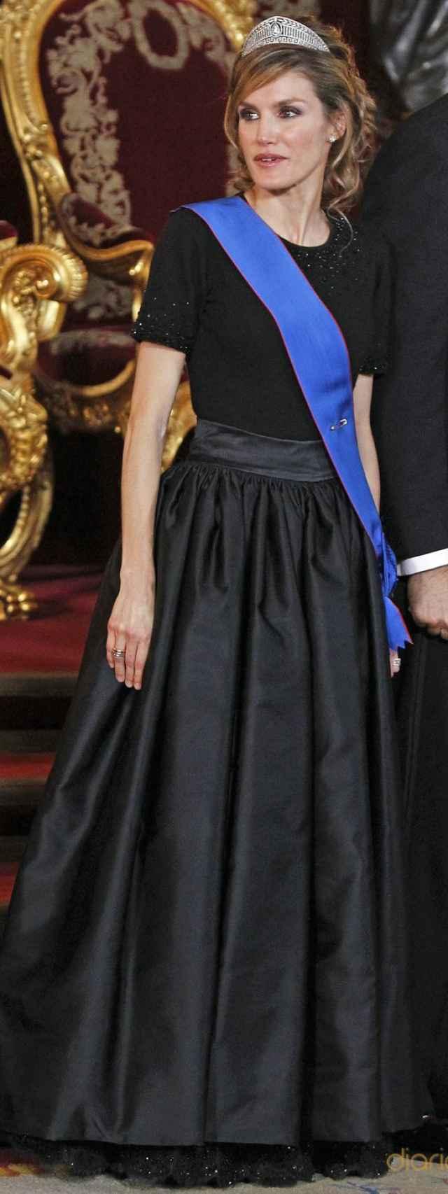 Doña Letizia, en la cena de gala en honor al presidente de Chile en 2011.