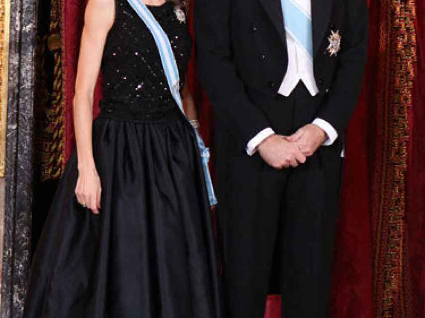 Felipe y Letizia, en la recepción al presidente de Rusia.