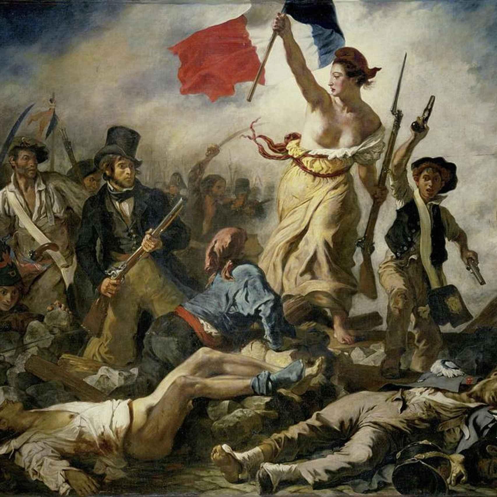 La libertad guiando al pueblo, de Eugène Delacroix, en el Louvre.