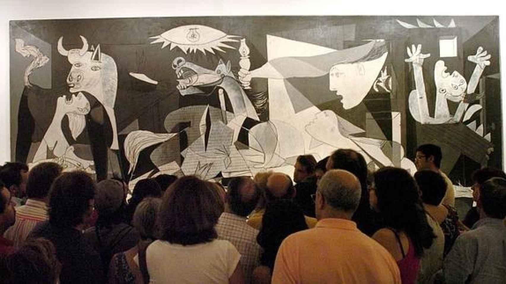 El Guernica, de Pablo Picasso, en el Museo Reina Sofía.