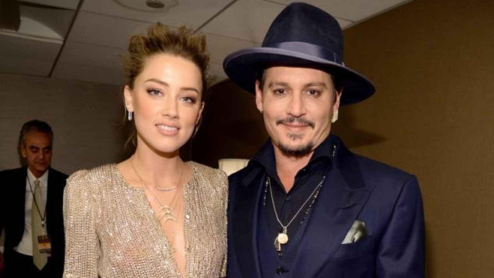 Johnny Depp y su ya ex mujer Amber Heard