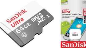 Sólo 15.81 euros. Tarjeta de memoria microSDHC SanDisk de 64GB.