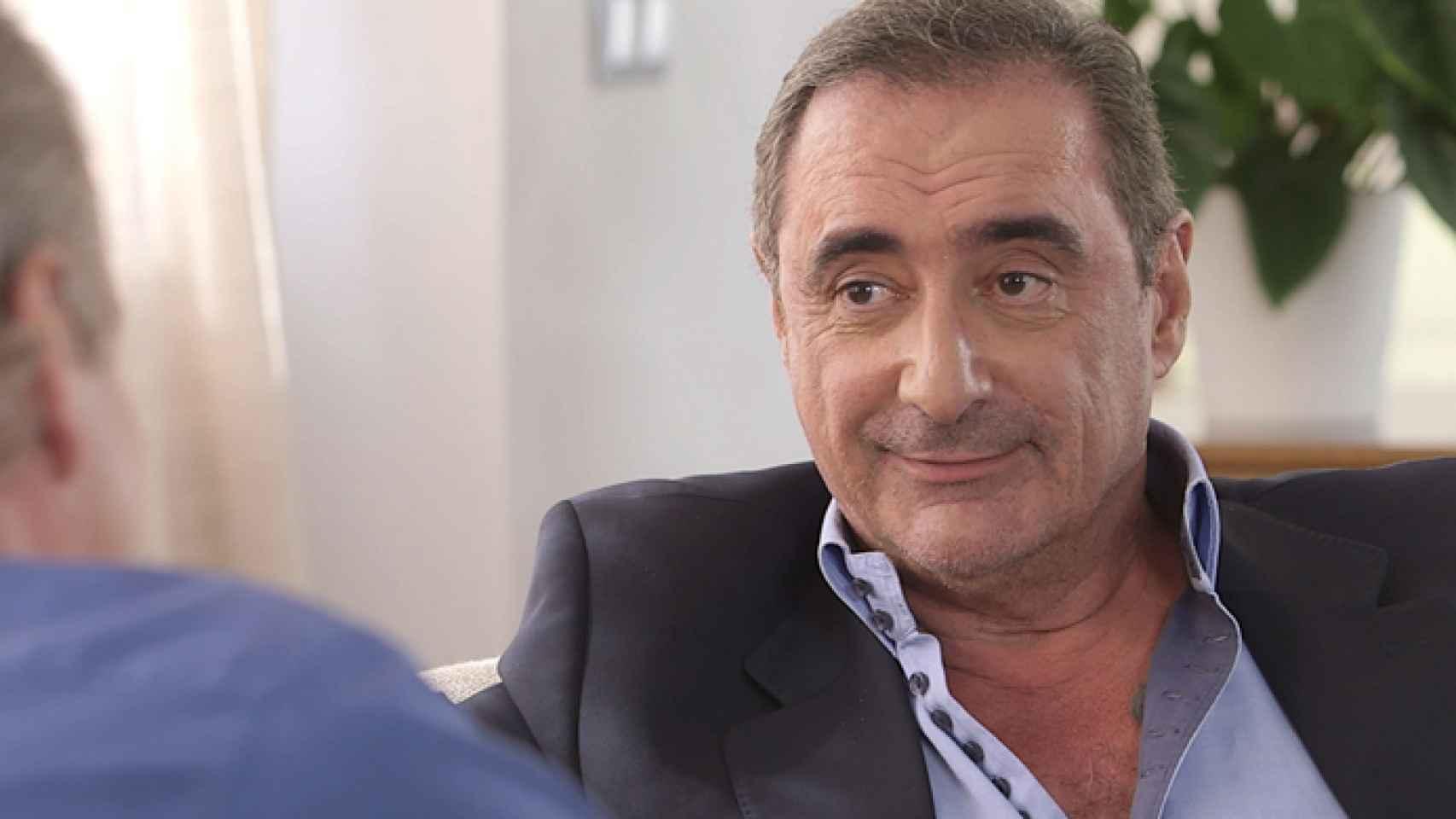 El periodista Carlos Herrera durante una entrevista con Bertín Osborne.