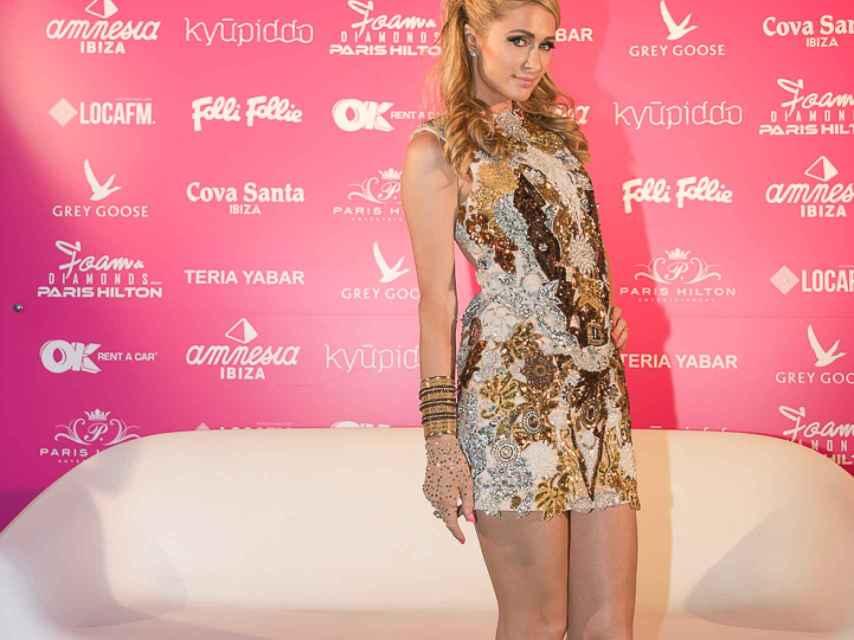 La celebrity posa en Amnesia, Ibiza.