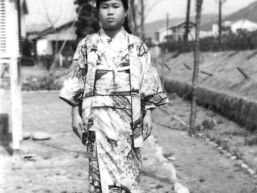 Sadako, poco después de enfermar.