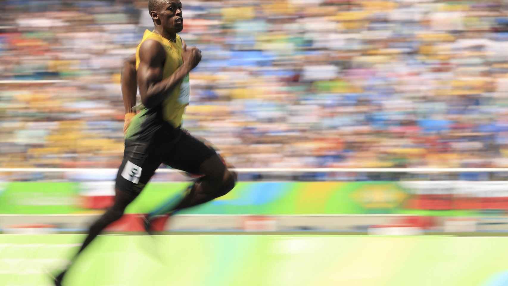 Usain Bolt en las series del 200