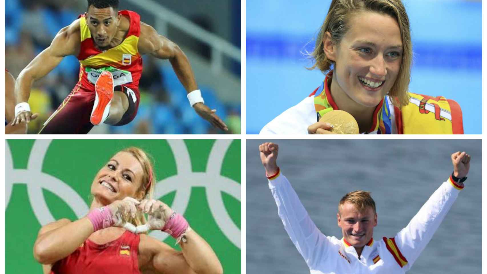 Algunos de los medallistas españoles en Río 2016.