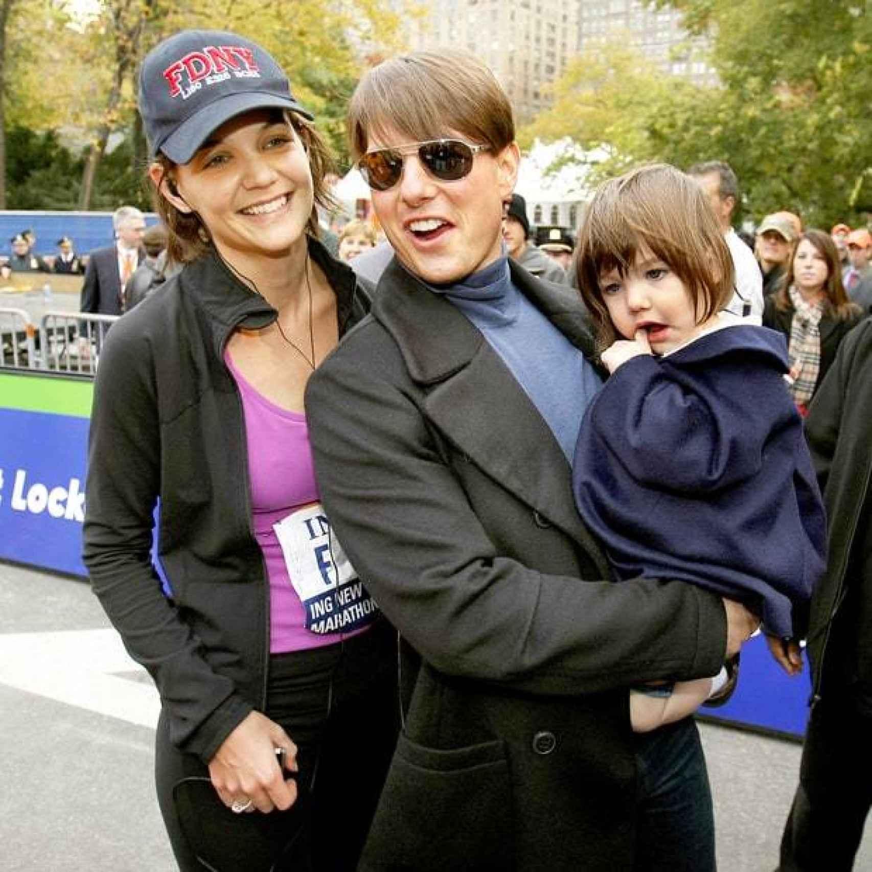 Katie Holmes cuando formaba una familia feliz junto al actor y su hija