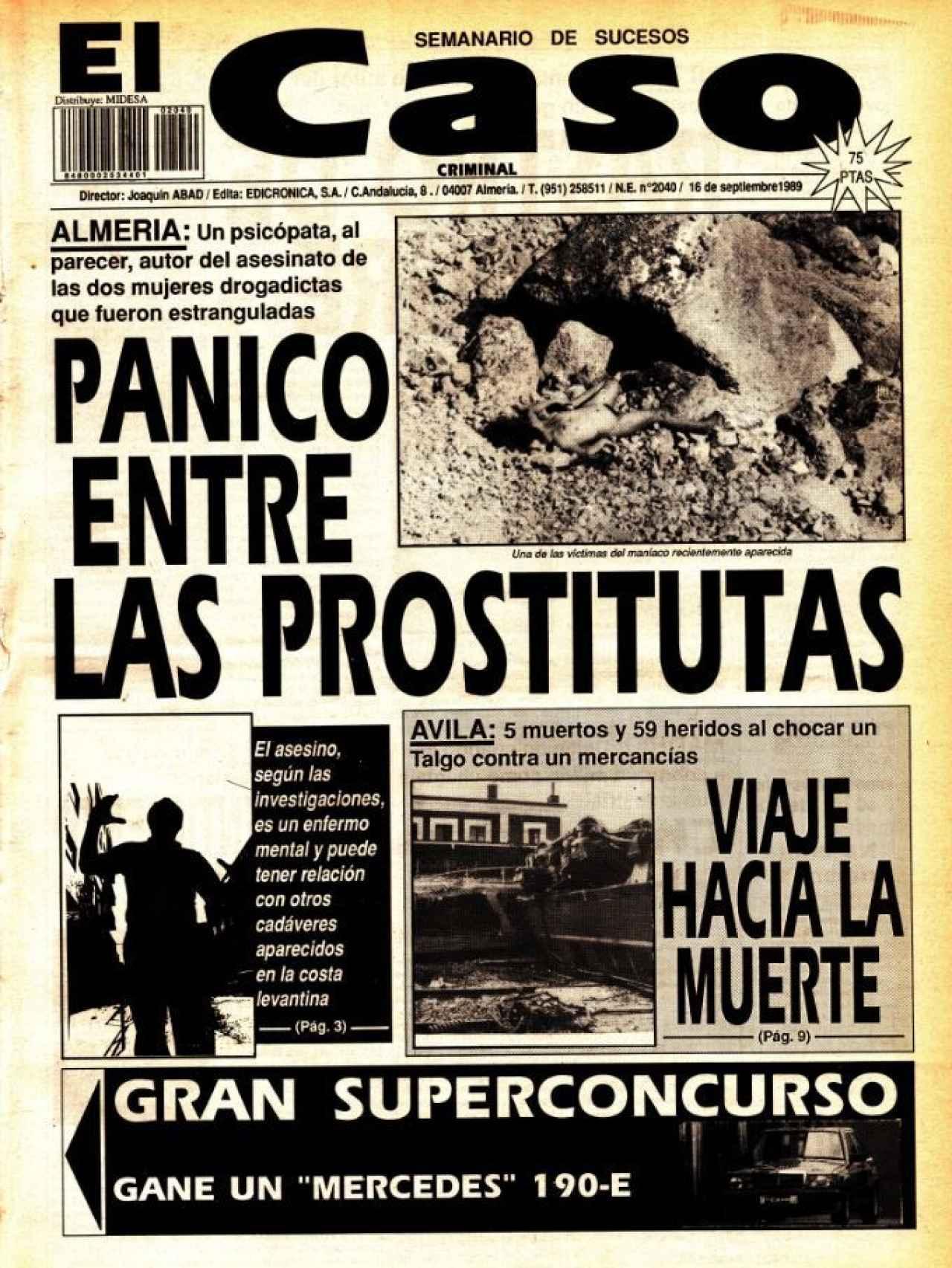 Portada de El Caso del 16 de septiembre de 1989.