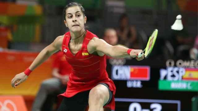 Carolina Marín, durante las semifinales.