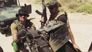 Dos de los combatientes españoles que ahora están en Irak.