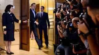 RiveraMariano Rajoy y Albert Rivera durante su reunión en el Congreso.