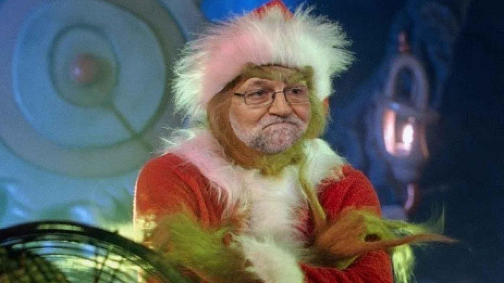 Rajoy caracterizado de Papá Noel.