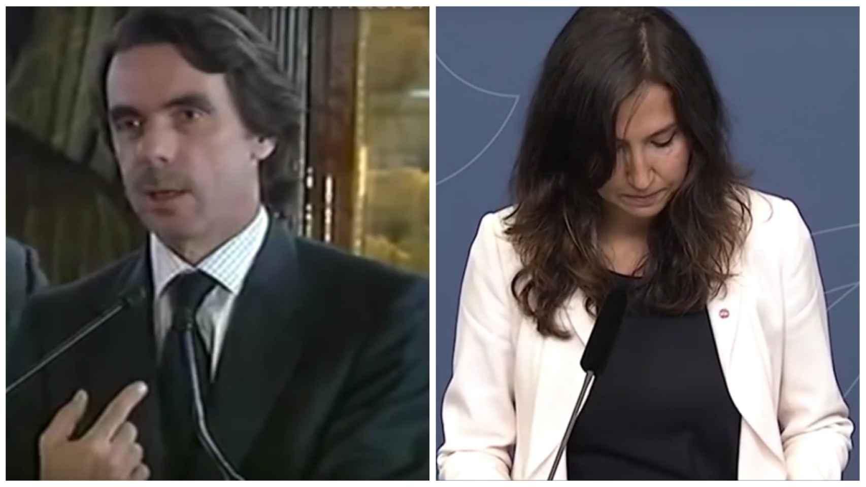 Aznar a la izquierda y Aída a la derecha