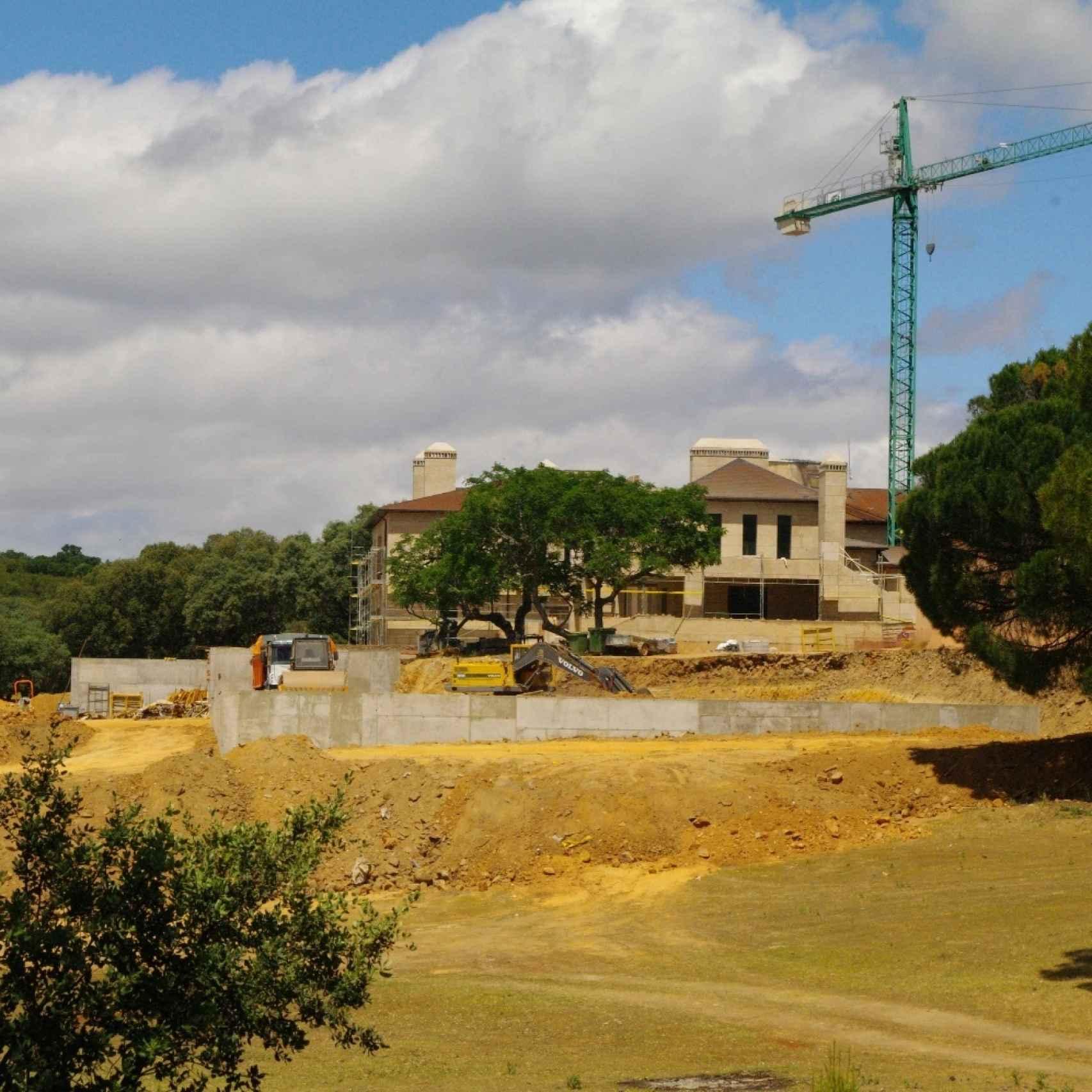 Construcción de la mansión