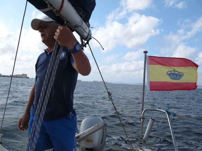 Ramón Pagán ha visto deteriorarse el Mar Menor en los últimos 20 años.