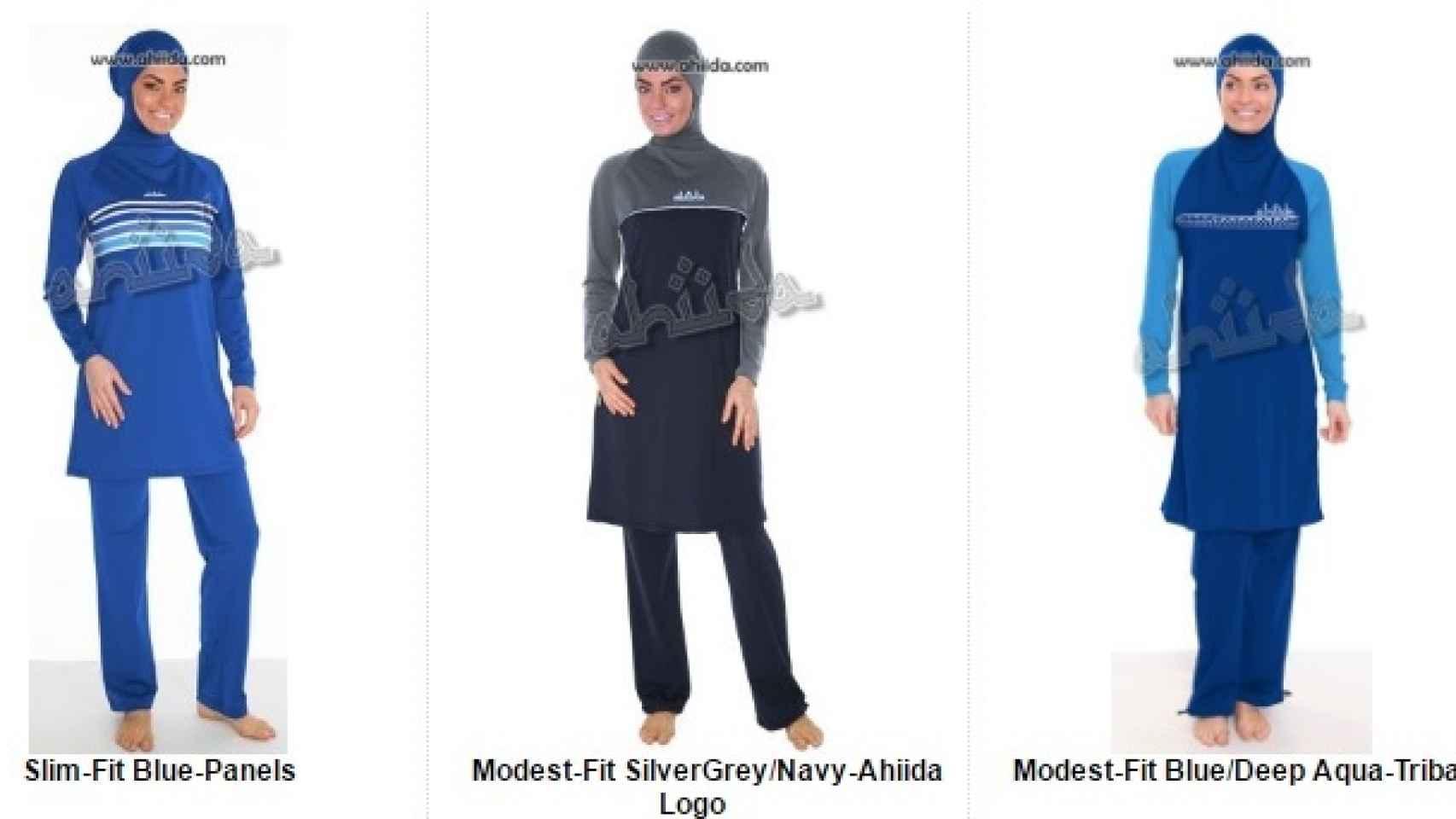 Tipos de burkinis diseñados por Aheda Zanetti.