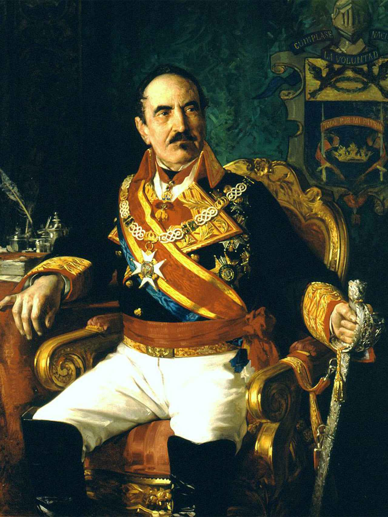 Espartero, por José Casado del Alisal.