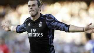 Bale celebra su gol ante la Real Sociedad.