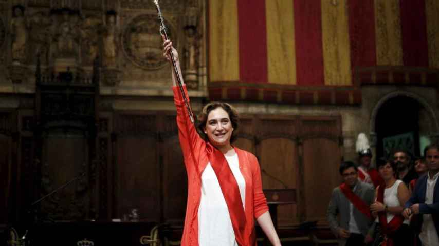 Ada Colau, en un acto como alcaldesa