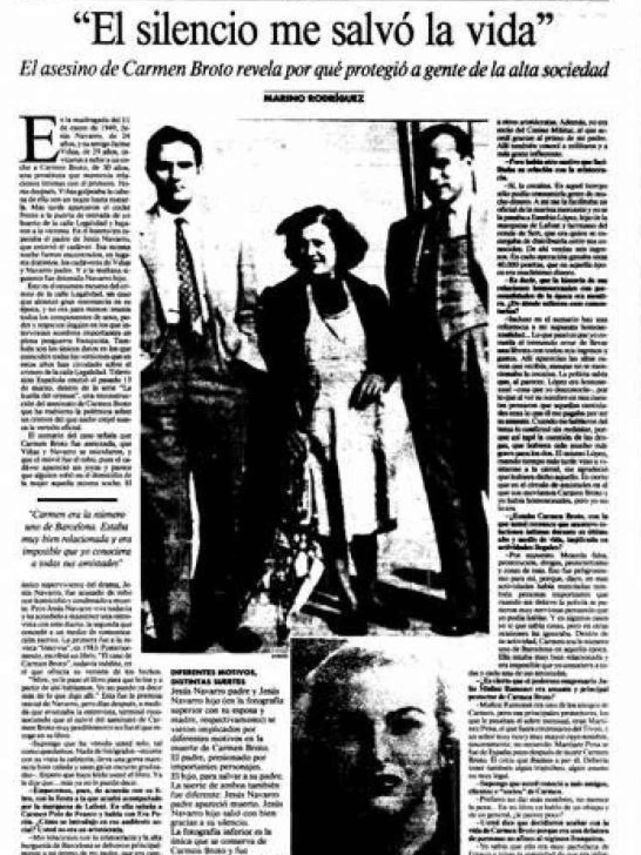 Una vez en libertad, Jesús Navarro concedió una entrevista a La Vanguardia.