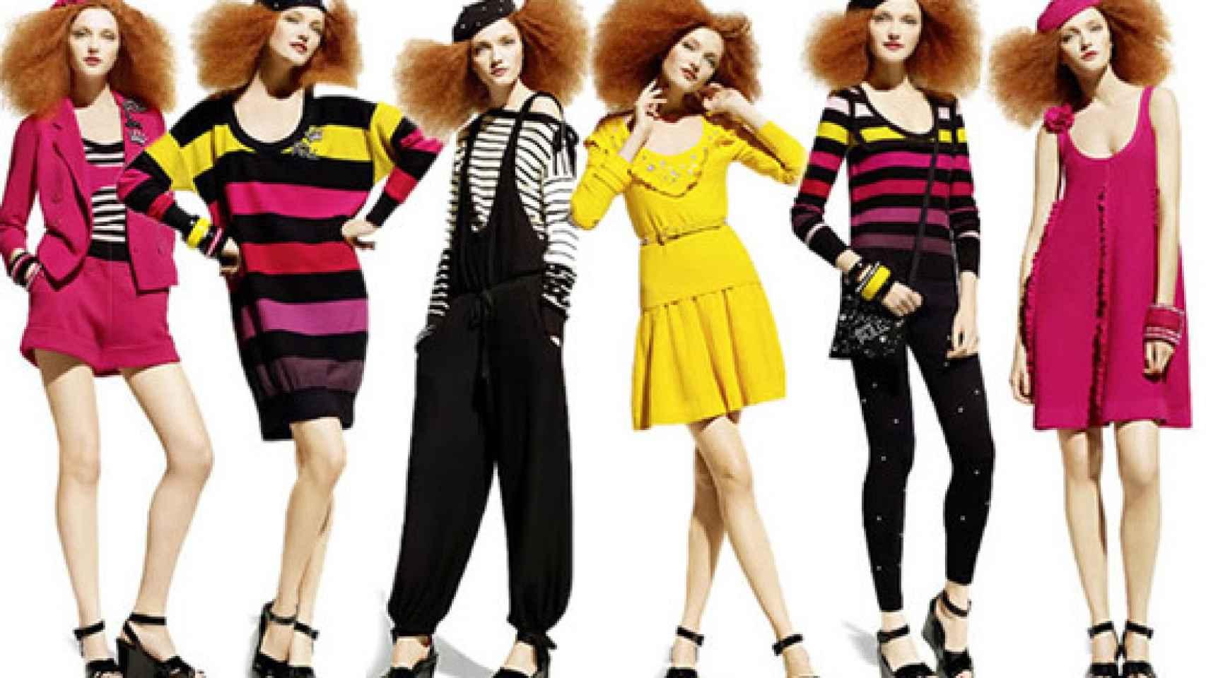 Modelos de su colección cápsula para H&M