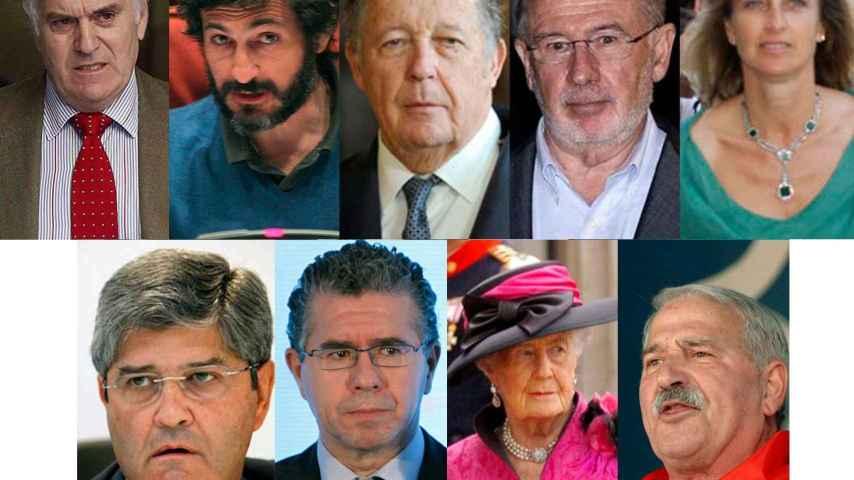 Los rostros más conocidos de los defraudadores que se acogieron a la amnistía fiscal.