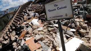 Poco queda de Amatrice tras el terremoto.