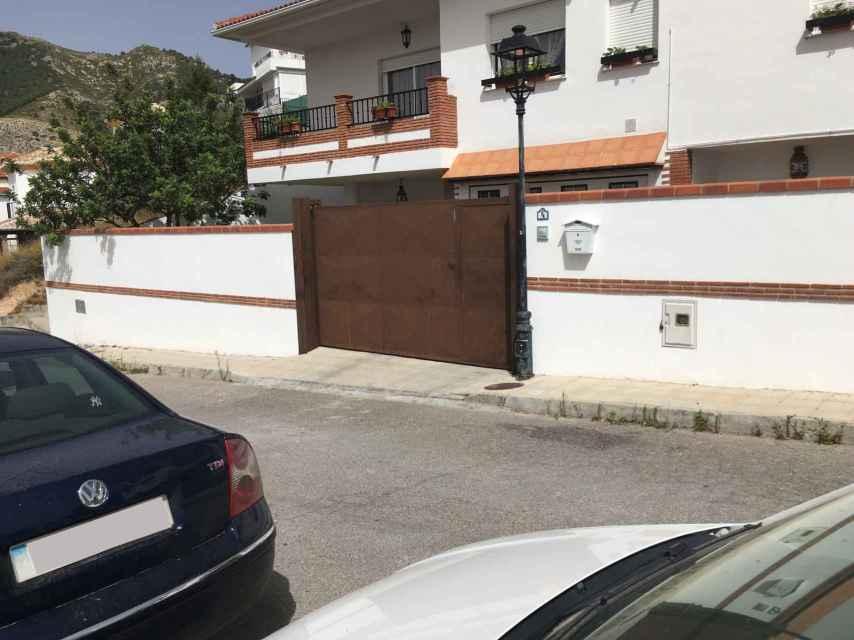 La casa en Víznar (Granada) de los padres de la fallecida.