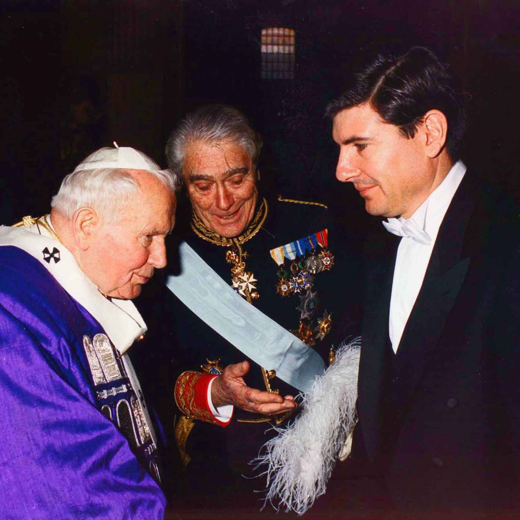 Con el Papa Juan Pablo II
