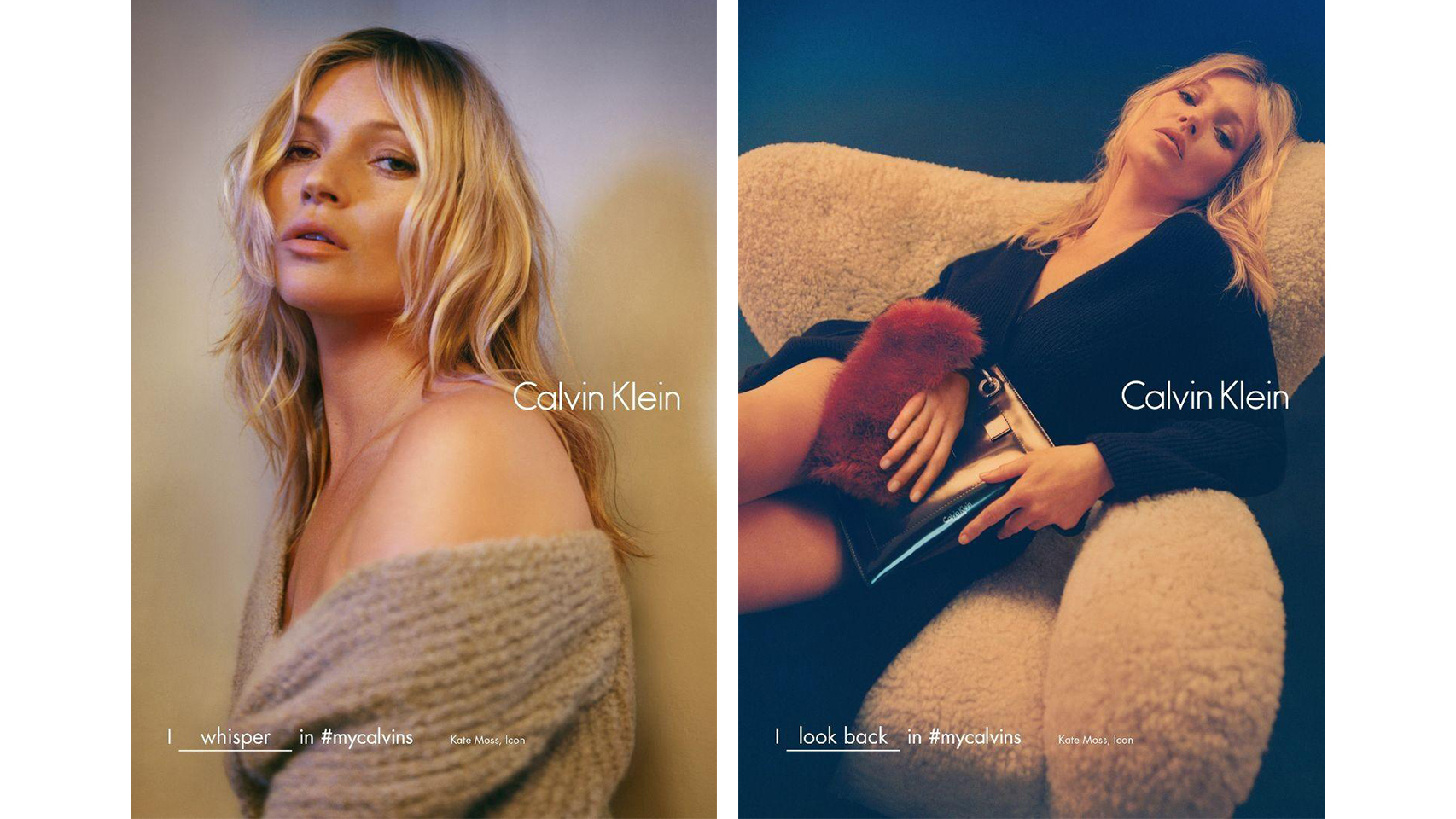 Kate Moss en la campaña #mycalvins