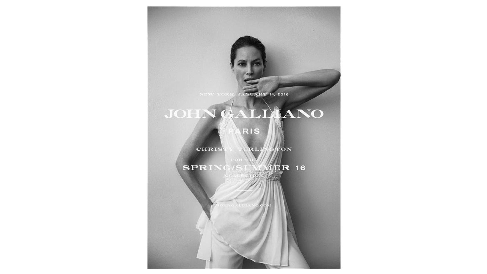 Christy Burlington para John Galliano Spring/Summer 2016