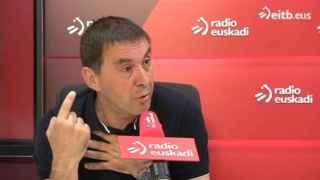 Otegi entrevistado en Radio Euskadi.