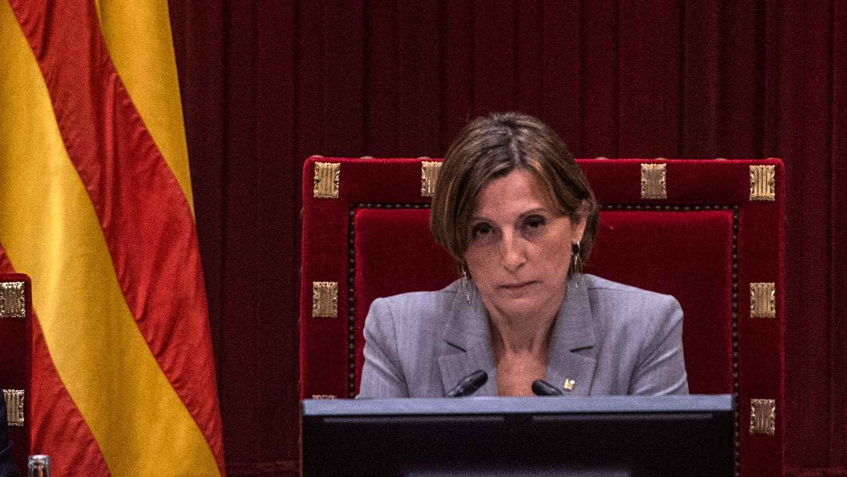 Carmen Forcadell, en el Parlament